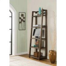 Perspectives - Leaning Bookcase - Brushed Acacia Finish
