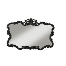 Aureate High Gloss Black Wall Mirror