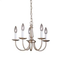 Salem 5 Light Mini Chandelier Brushed Nickel