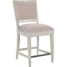 Trouvais Upholstered Back Counter Stool
