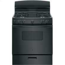 "GE® 30"" Free-Standing Front Control Gas Range.  (This is a Stock Photo, actual unit (s) appearance may contain cosmetic blemishes. Please call store if you would like actual pictures). This unit carries A ONE YEAR MANUFACTURER WARRANTY. REBATE NOT VALID with this item. ISI 34154GH"