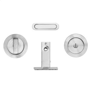 Round flush pull privacy kit inc. SP51 & 2801, Antique Brass Dark Product Image