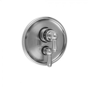 """Antique Brass - Round Step Plate with Regency Peg Thermostatic Valve and Regency Peg Volume Control Trim for 1/2"""" Thermostatic Valve with Integral Volume Control (J-THVC12) Product Image"""