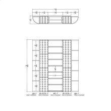 Apex 7' Mahogany Wine Rack Kit (QR-7, IB-3COL-7, WC-7, IB-3COL-7, QR-7) - READY TO SHIP