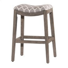 "30"" Sorella Backless Counter Stool, Gray"