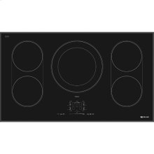 "Black Floating Glass 36"" Induction Cooktop, Black"