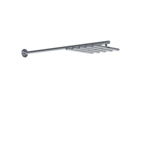 Head shower, wall mounted, extended 200 mm - Grey