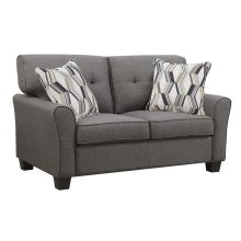 Loveseat Espresso W/2 Accent Pillows
