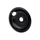 Smart Choice 8'' Black Porcelain Drip Bowl, Fits Most Product Image
