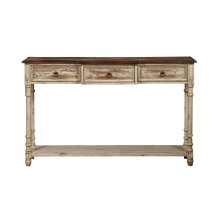 Distressed Drawer Console Table