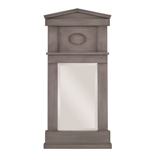 Pediment Mirror - Ash Grey