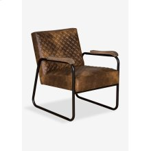 Gabriel Faux Leather Arm Chair with Diamond Stiched Pattern And Metal Arm (23x28x31)