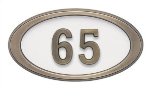 Small Oval HouseMark ® Address Plaques Product Image