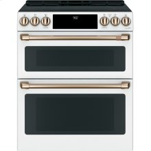 "Café 30"" Slide-In Front Control Induction and Convection Double Oven Range (OPEN BOX CLOSE OUT)"