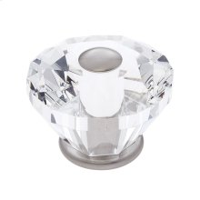 Satin Nickel 60 mm Diamond Cut Knob