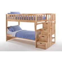 Peppermint Stair Bunk in Natural Finish