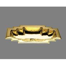 Small Large - Art Deco Style Lavatory - Plain Pattern - Antique Brass