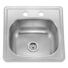 Bar Topmount 2 Faucet Holes(Stainless Steel)