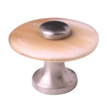 Satin Pewter & Natural Cattle Horn Cabinet Knob - 021