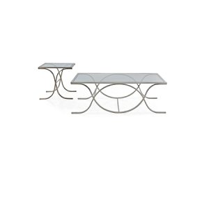 DNA Glass SILVER Rectangular Coffee Table
