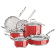 Stainless Steel 10-Piece Set - Empire Red
