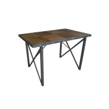 Emerald Home D102-13 Laurell Hill Gathering Height Dining Table, Patina Gray