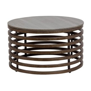 Guggenheim Metal & Marble Coffee Table