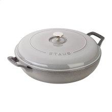 Staub Cast Iron 3.75-qt Braiser, Graphite Grey