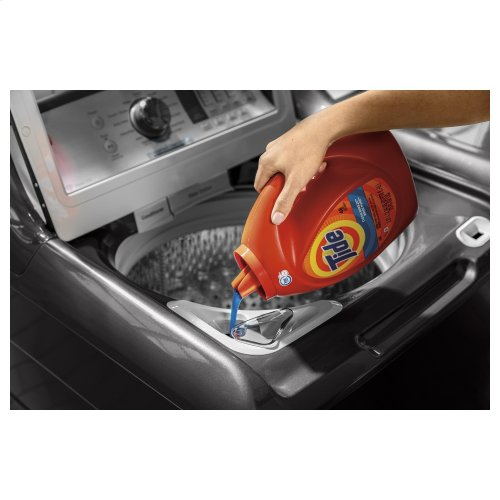 GE® 5.0 cu. ft. Capacity Smart Washer with Stainless Steel Basket