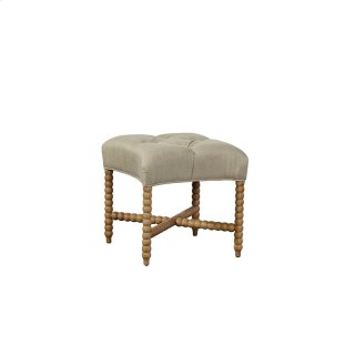 Tufted Linen Stool