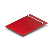 "18"" Dishwasher Panel in Red Matte with Traditional Handle (DP-RM-18)"