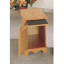 CABINET/MAGAZINE W/PULL OUT TRAY WOOD OAK/F