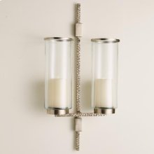 Hammered Double Sconce-Antique Nickel