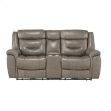 Power Double Reclining Love Seat with Console, Power Headrests and USB Ports