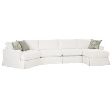 2390 LSF Angled Wedge / Armless 2 Seat Sofa / RSF Chaise