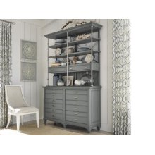 Server with Hutch - Dark Teal