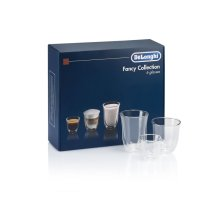 Fancy Collection (6) Glass Gift Set - 2 Espresso, 2 Cappuccino, 2 Latte Double Wall Thermal Glasses DLSC302