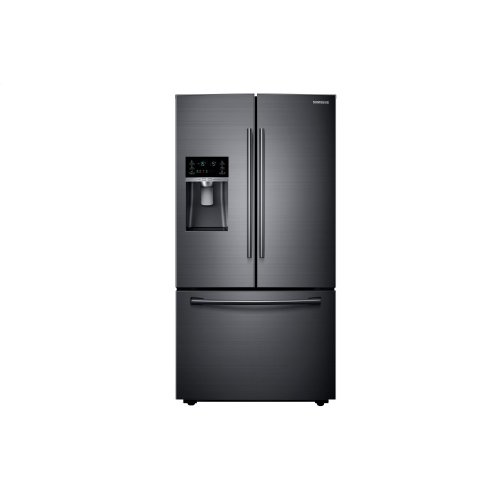 French Door Counter Depth Refrigerator with Twin Cooling Plus in Black Stainless Steel **OPEN BOX** West Des Moines Location