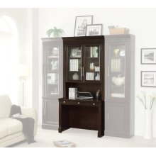 STANFORD Two piece Library Glass Hutch and Desk