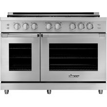 "48"" Heritage Gas Pro Range, Silver Stainless Steel, Liquid Propane"