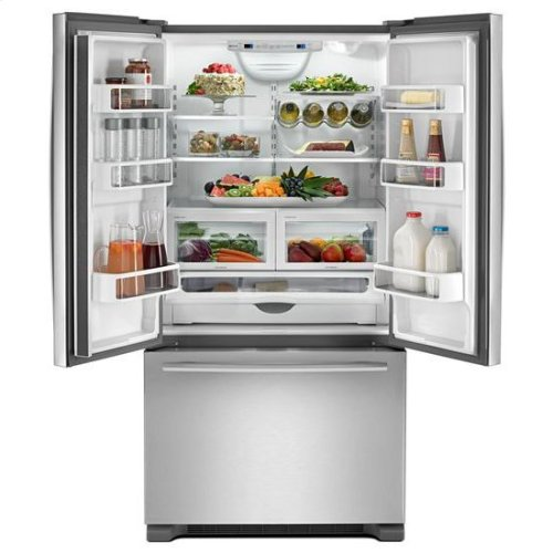"""Jenn-Air® 72"""" Counter Depth French Door Refrigerator, Euro-Style Stainless Handle"""