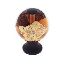Oil Rubbed Bronze 30 mm Orange Knob