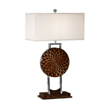 Pangolin Faux Macassar Table Lamp