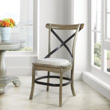 Alesi Dining Chair 2-pack Grey Finish