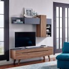 Scope 2 Piece Entertainment Center in Walnut Gray Product Image