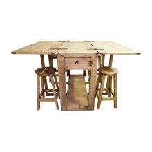 Drop Leaf Island W/stools