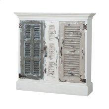 Waterfront Hall Cabinet In Garden Lattice White