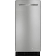 """Euro-Style 15"""" Under Counter Ice Machine with Factory Installed Drain Pump, Stainless Steel"""
