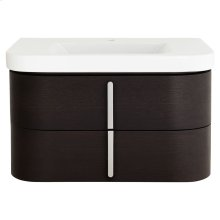 """Equility 33"""" Wall-Hung Vanity - Canvas White/Wenge"""