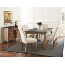 "Debby Polyester Side Chair-Gray 21""x29""x40"" [1/2"" Memory Foam]"